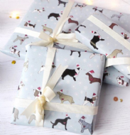 Ren Ellery Dog Christmas Gift Wrap